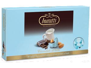 confetti Azzurri alla mandorla gusto di cioccolato al latte